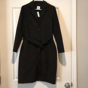 Gap long unlined wool blend coat